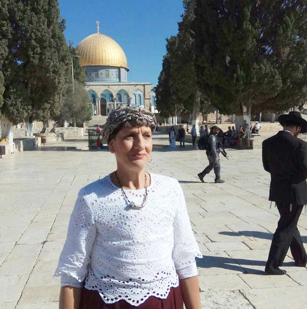 MK Shulamit Mualem-Rafaeli at the Temple Mount