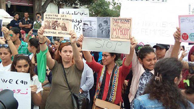 שהאישה הראשונה תאשר. מחאה נגד אלימות מינית במרוקו ()