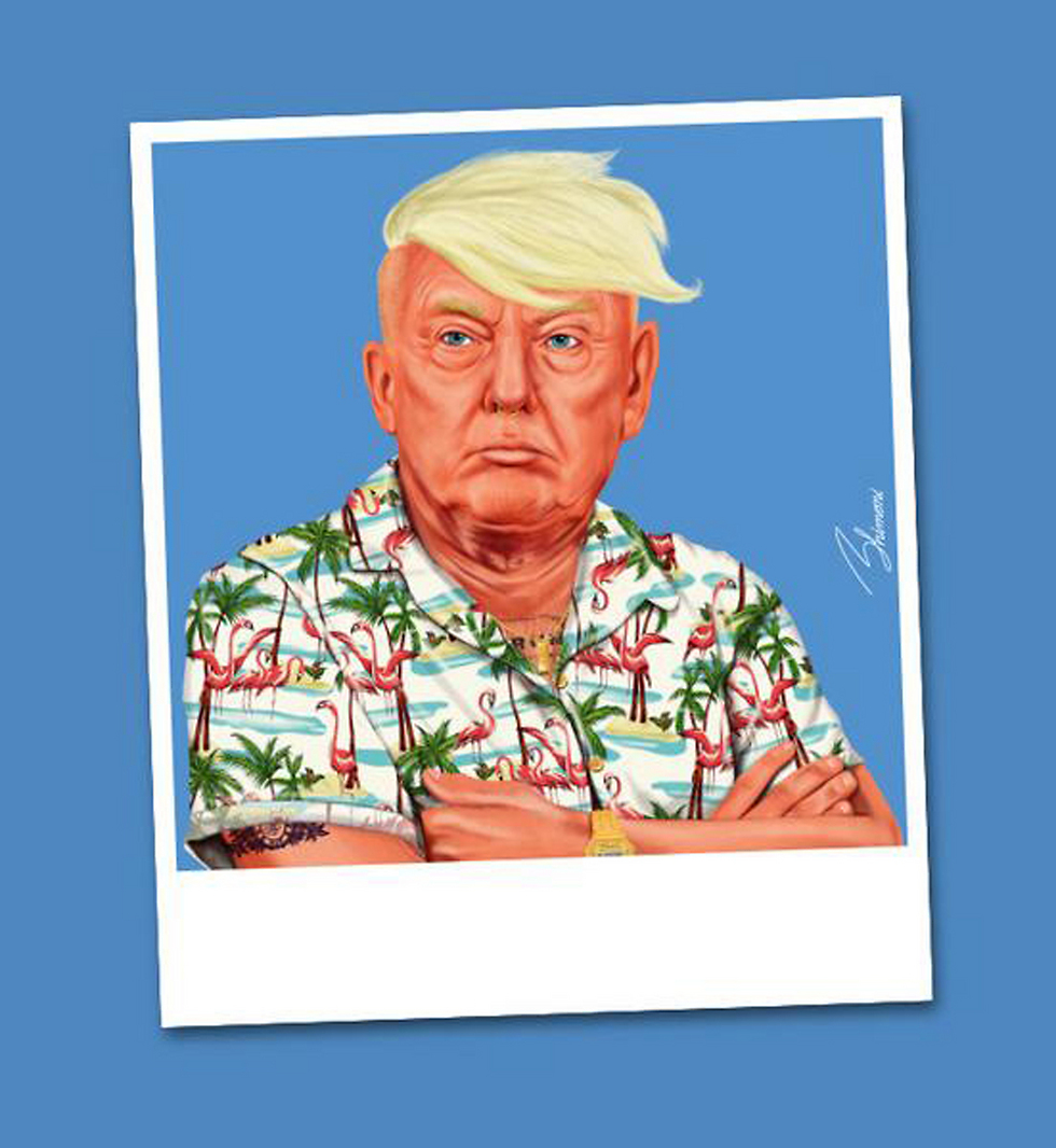 Donald Trump (Illustration: Amit Shimoni)