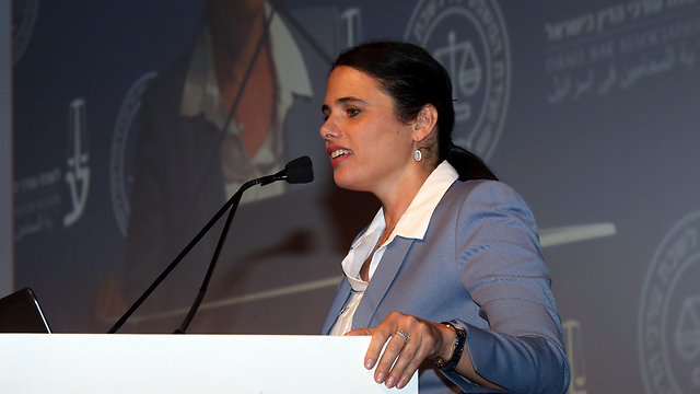 Shaked speaking during the Israel Bar Association conference (Photo: Yariv Katz) (Photo: Yariv Katz)