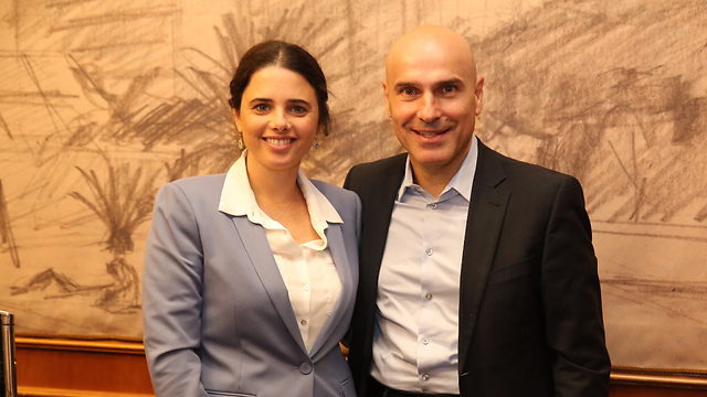 Justice Minister Shaked (L) and Israel Bar Association President Nave are close allies (Photo: Yariv Katz)