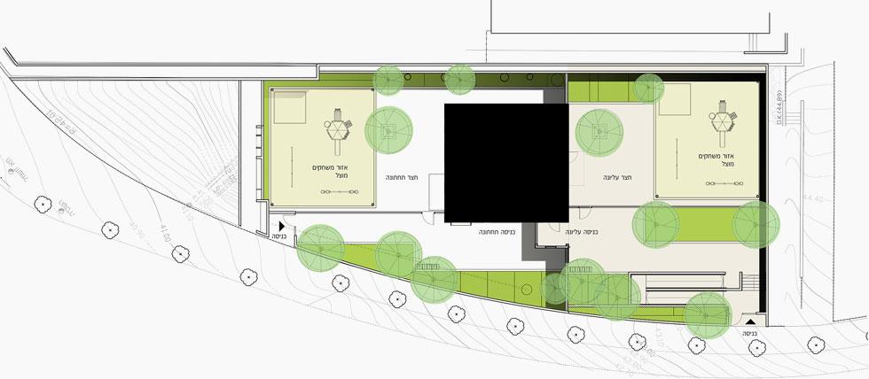 תוכנית הגן, שהקמתו המהירה (פחות מחמישה חודשים) עלתה כ-3 מיליון שקלים (תוכנית: רגבים+ אדריכלים, ערן זילברמן)