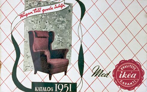 השער של קטלוג 1951 עוד לא מציג סגנון חיים שלם, אלא רהיט אחד נבחר (צילום: inter ikea systems)