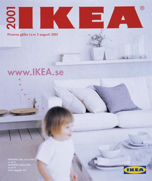 שוב ילד והרבה לבן בשער של קטלוג 2001 (צילום: inter ikea systems)