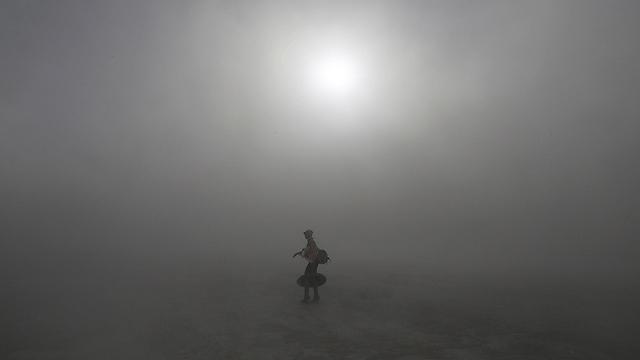 סופת חול אדירה בנבאדה (צילום: רויטרס)