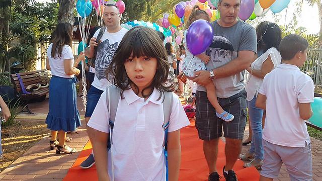 אורי קמר עולה לכיתה ג' (צילום: אסף קמר)