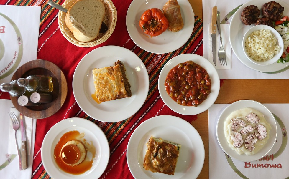 """שולחן בולגרי: מסעדת """"ויטושה"""" (צילום: ירון ברנר) (צילום: ירון ברנר)"""