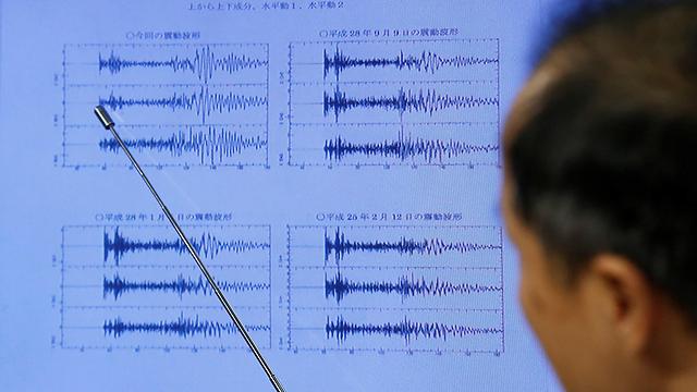 היפנים מציגים את עוצמת הרעש באזור (צילום: רויטרס)