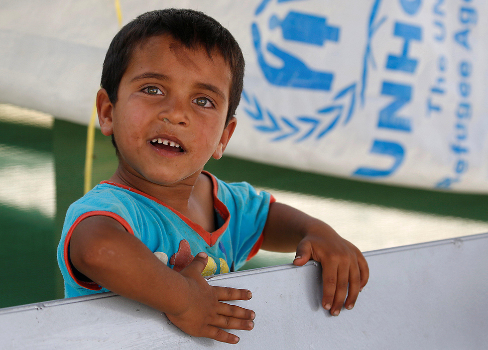 A Syrian child at a refugee camp in Lebanon (Photo: Reuters)