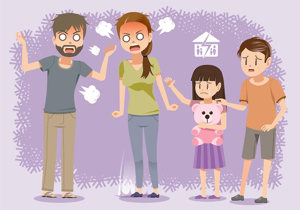 הילדים מרגישים את האווירה העכורה (צילום: Shutterstock)