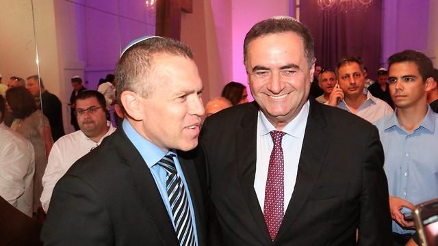 השרים ישראל כץ וגלעד ארדן ()