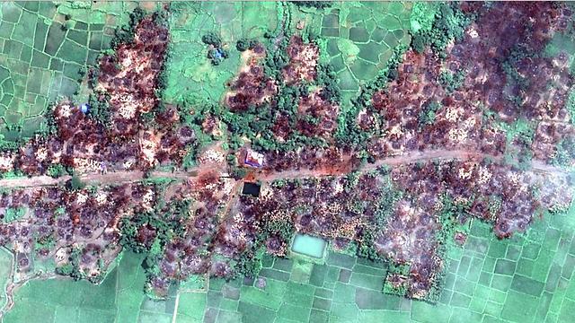 תיעוד מהאוויר: כפרים שנשרפו על-ידי כוחות הצבא ()