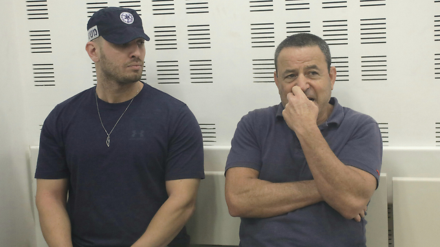Brosh, right, in court (Photo: Shaul Golan)