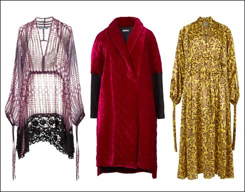 שמלת סוכרייה בגוון חרדל, 1,100 שקל; מעיל קטיפה, 980 שקל; חולצת בריג, 698 שקל  (צילום: עדי גלעד)
