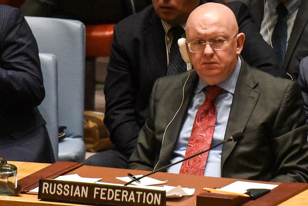 שגריר רוסיה וסילי נבנזיה (צילום: AFP)