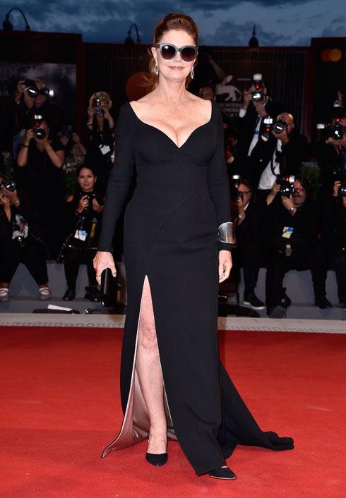 סוזן סרנדון בשמלה של הוגו בוס (צילום: Gettyimages)