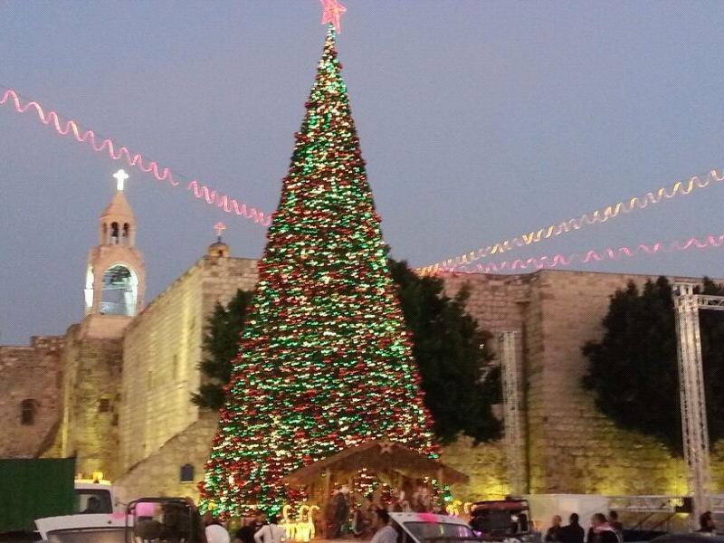 כיכר האבוס בחג המולד, בית לחם (צילום: שריף עסאקלה)