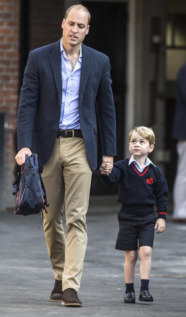 אתם חמודים שזה משהו! הנסיך וויליאם והנסיך ג'ורג' (Gettyimages)
