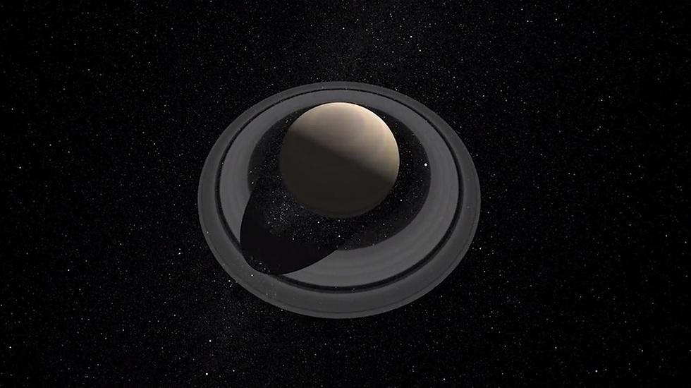 """מבט מרהיב על שבתאי (צילום: נאס""""א) (צילום: נאס"""