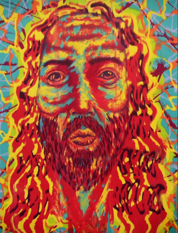 ישו כפי שצייר אותו ג'ים קארי (instagram)