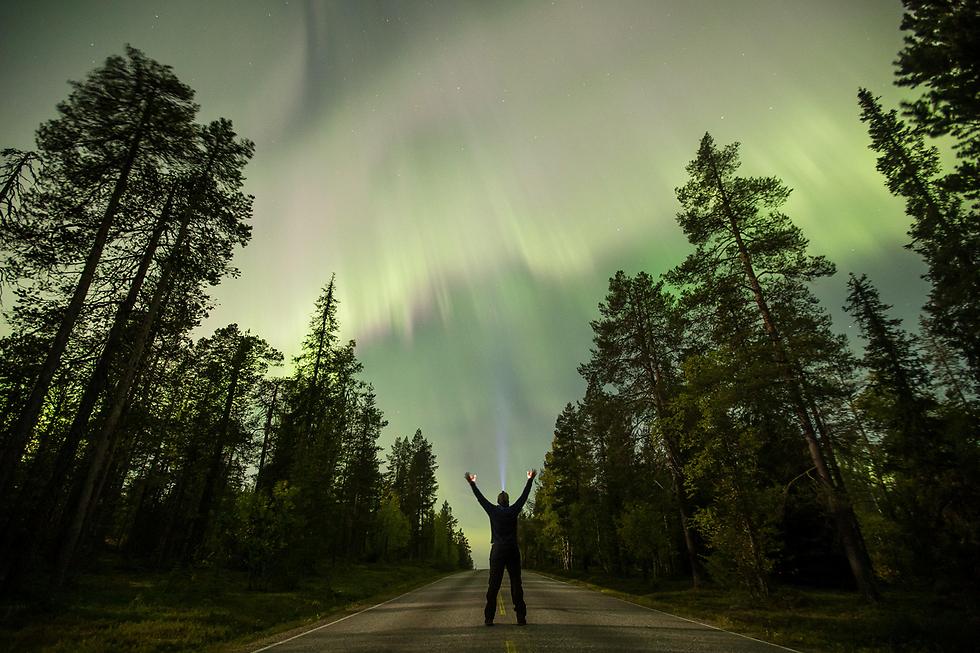 הזוהר הצפוני בשמי פינלנד (צילום: רויטרס)