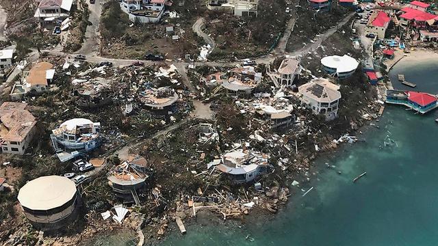 חלק מההרס בעקבות סופת ההוריקן אירמה. המדינה מתקשה להתאושש (צילום: AP) (צילום: AP)