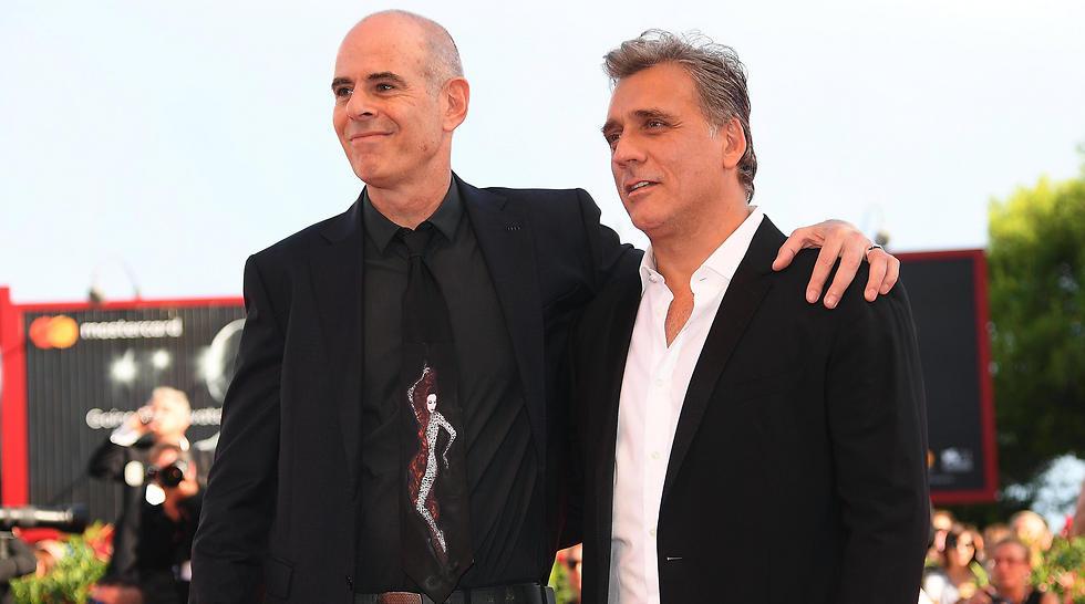 Foxtrot director Samuel Maoz (L) and star Lior Ashkenazi (Photo: EPA) (Photo: EPA)