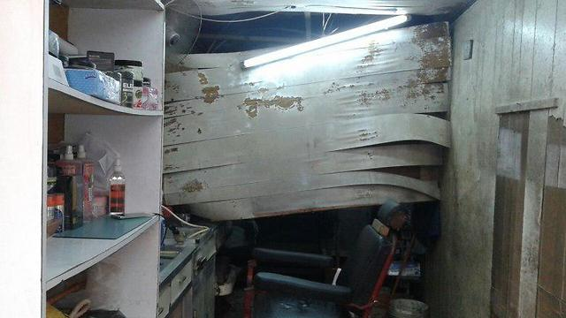 Damage from the sonic boom allegedly caused by Israeli jets