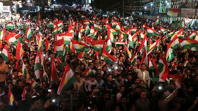 הכורדים מתכוננים למשאל עם (צילום: AFP)