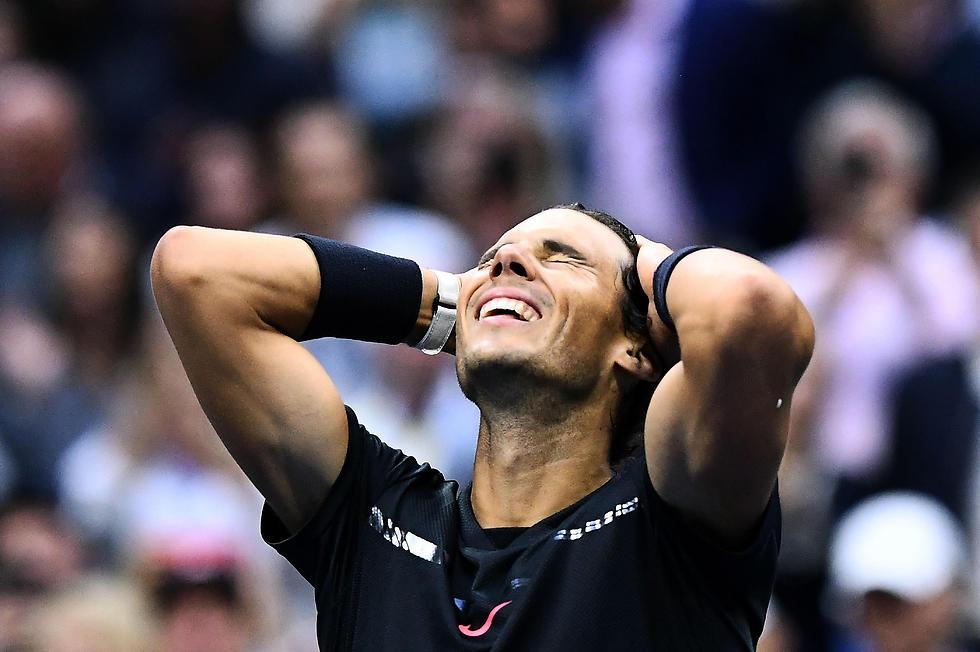 """""""בלתי ייאמן מה שקרה לי השנה"""". נדאל בסיום הגמר (צילום: AFP)"""