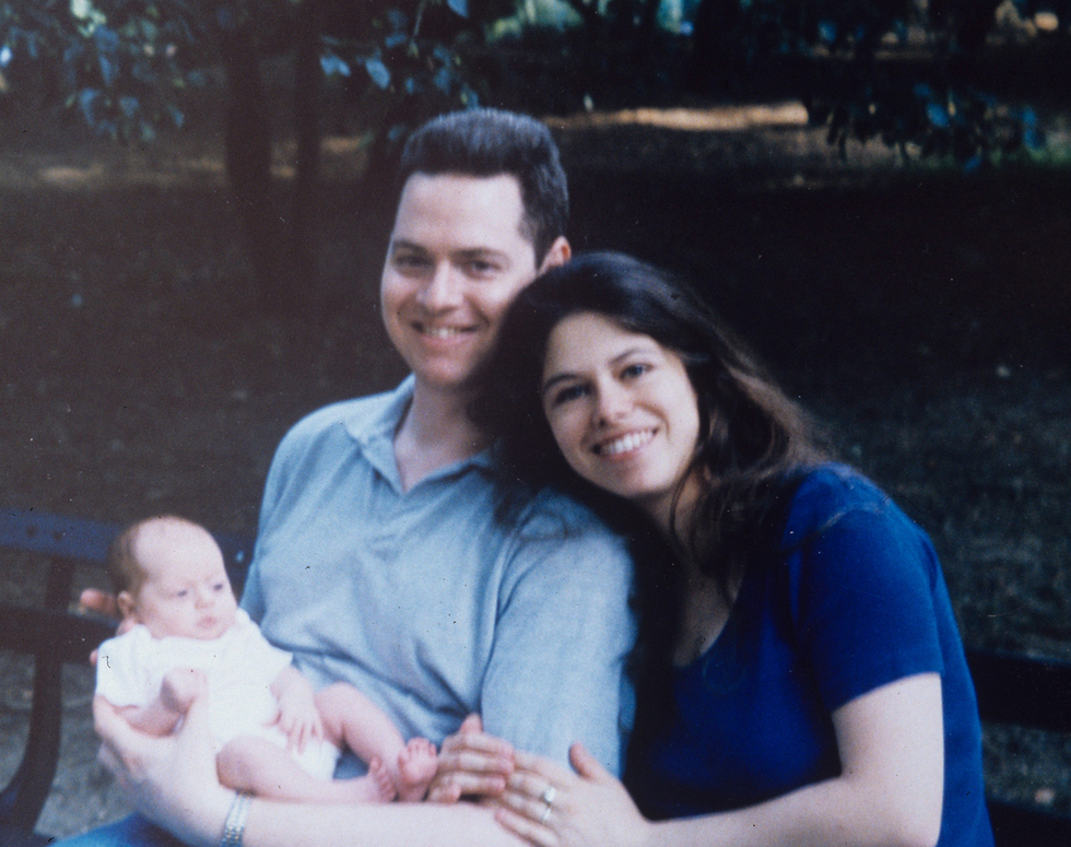 שי, האישה ליאת והתינוקת ספיר, כמה ימים לפני האסון (צילום: אייל יצהר)