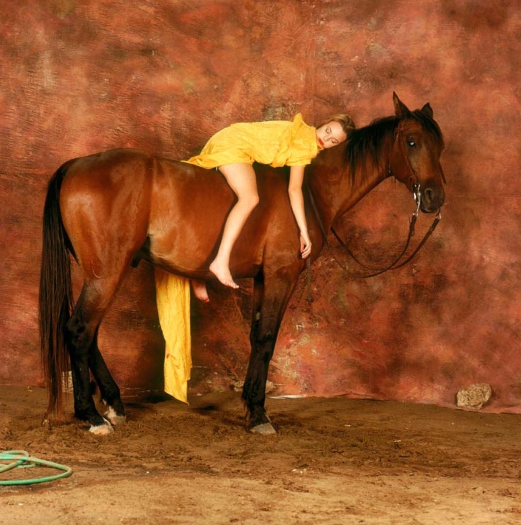 יעל בר זוהר בת ה-15 שכובה על סוס, כפי שצילם מיכה קירשנר (צילום: מיכה קירשנר)