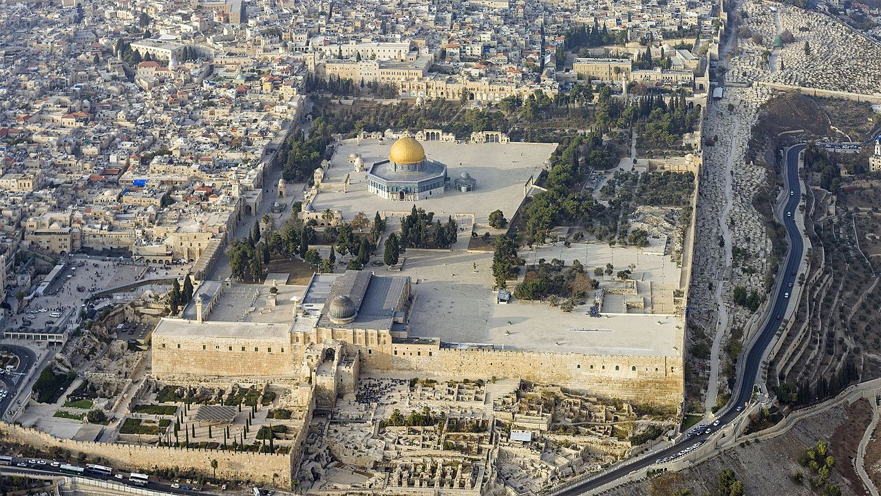 An aerial photo of the Temple Mount (Photo: Andrew Shiva)