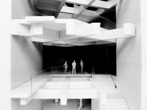 אחת הקומות במבנה העתידי (הדמיה: מנואל גוטרנד – פאריז , באה אדריכלים ובוני ערים – ישראל)