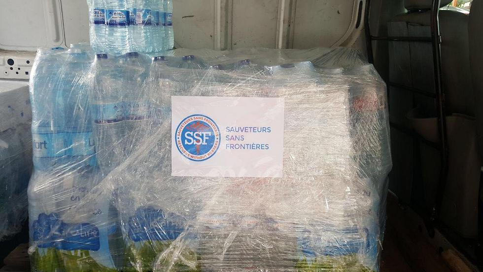 Water brought by Rescuers Without Borders to Saint Martin (Photo: SSF)