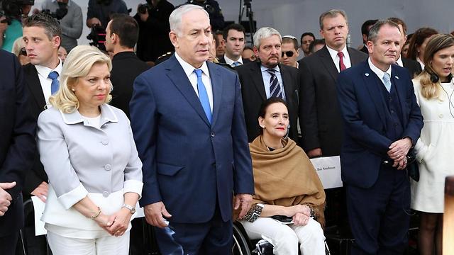 במפגש עם הקהילה היהודית בארגנטינה (צילום: EPA)