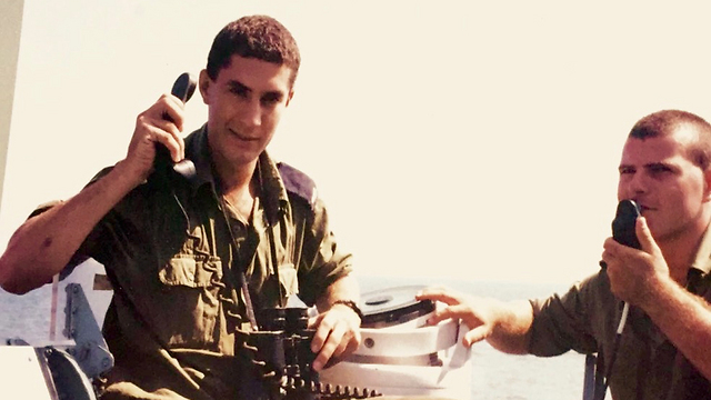 Eli Koren (L) aboard the Tarshish in his younger days (Photo: IDF Spokesperson's Unit) (Photo: IDF Spokesperson's Unit)
