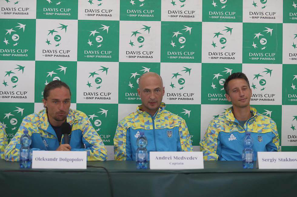 """נבחרת הדייויס האוקראינית. """"כמה יודעים שם שיש משחק?"""" (צילום: אורן אהרוני)"""
