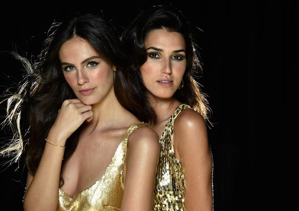 מוכנות לפתוח שנה חדשה ופוטוגנית. מלכת היופי רתם רבי (מימין) ונערת ישראל אדר גנדלסמן (צילום: איתן טל)