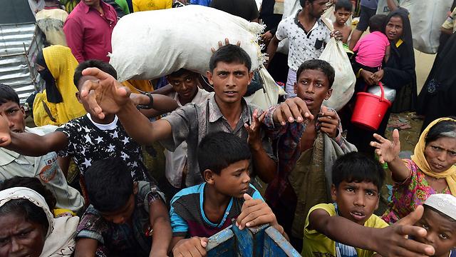 האשמה רשמית ברצח עם - צעד משפטי נדיר. בני רוהינגה במחנה פליטים (צילום: AFP) (צילום: AFP)