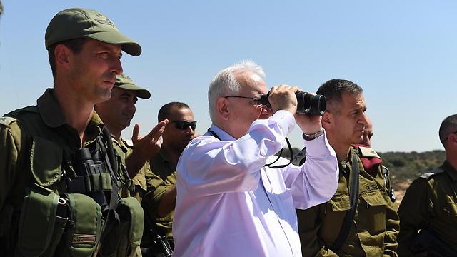 Президент Израиля посетил военные учения. Фото: ЛААМ