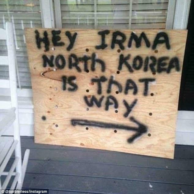 """תושבי פלורידה מפנים את """"אירמה"""" לצפון קוריאה (barbieriess_instagram) (barbieriess_instagram)"""