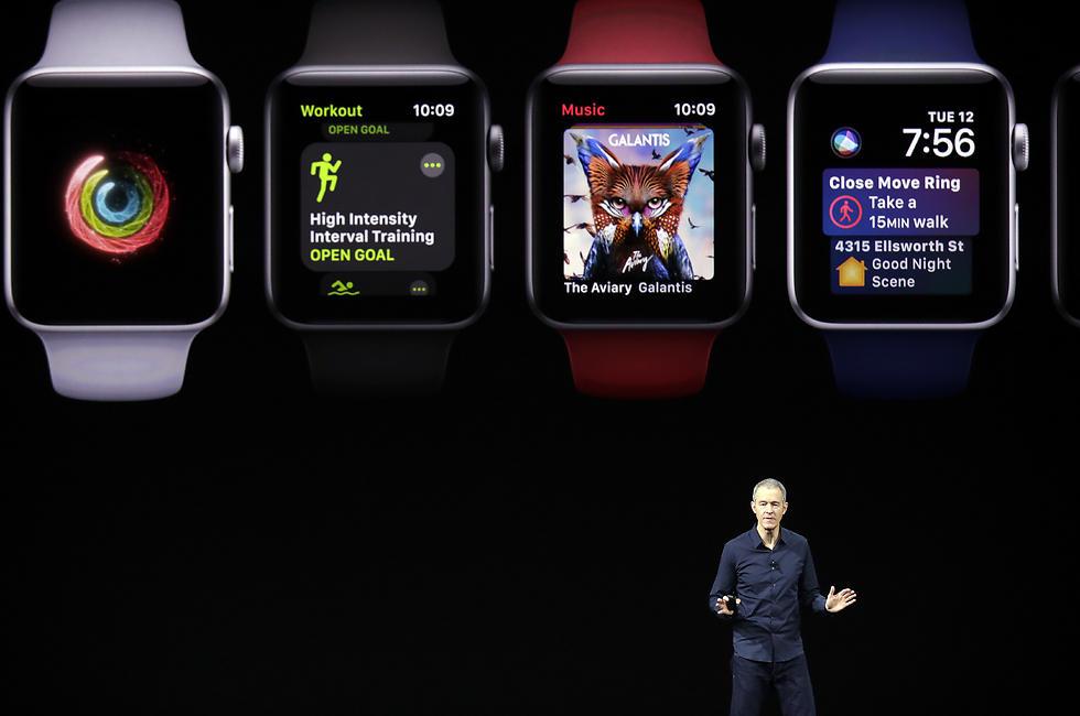 השעון החדש של אפל (צילום: AP)