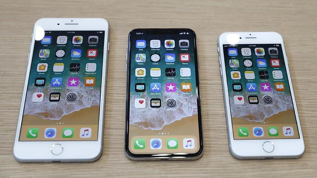 אייפון 8, אייפון X ואייפון 8 פלוס (צילום: רויטרס)
