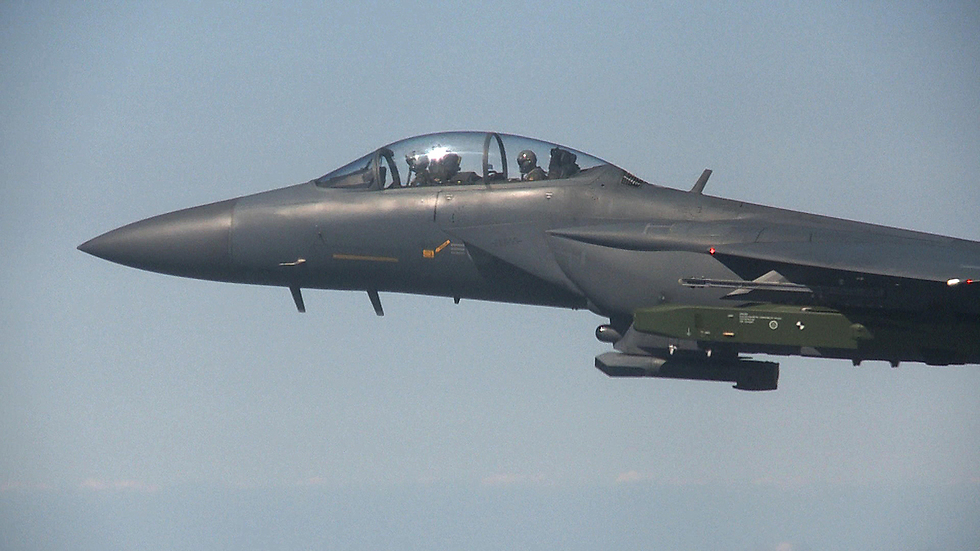 לפני השיגור ממטוס F-15 בדרום קוריאה  (צילום: AP)