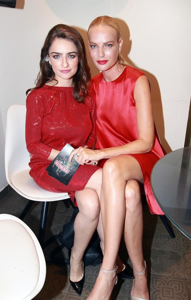 הכי לוהטות באדום שיש. גוטמן ואניה בוקשטיין (צילום: ענת מוסברג)