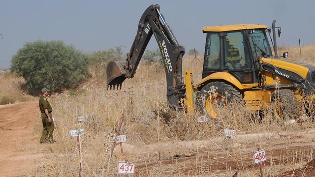 The burials took place three months ago (Photo: Effi Sharir) (Photo: Effi Sharir)