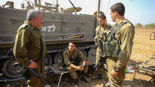 Eisenkot at the IDF Northern Command drill (Photo: Yaron Brenner)