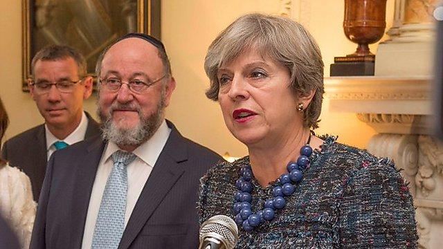 Тереза Мэй с еврейскими лидерами. Фото: Number10gov
