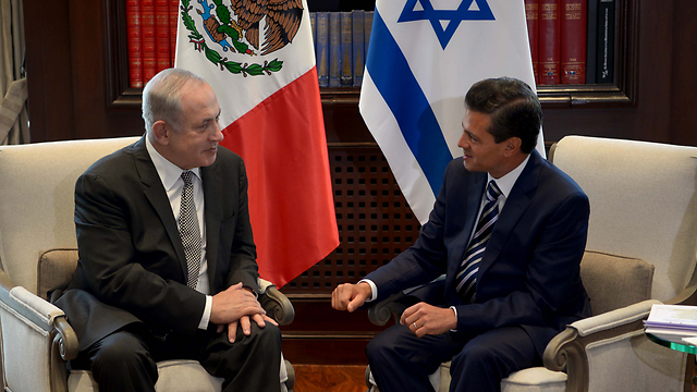 PM Netanyahu with President Enrique Pena Nieto (Photo: Avi Ohayon/GPO)